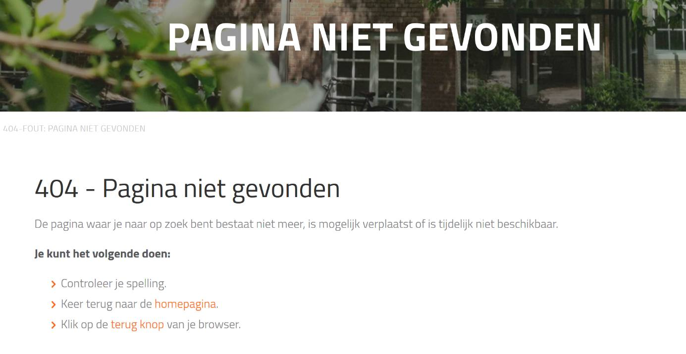 404-pagina op je website