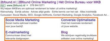 Google Ads advertentie extensie