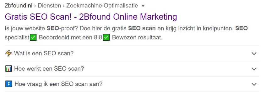 Breadcrumbs in Google