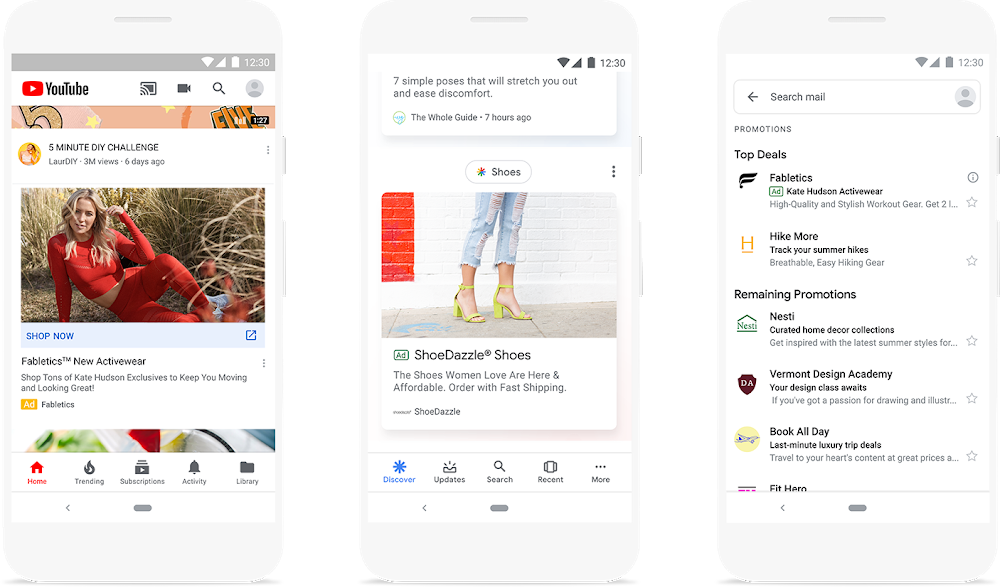 Discovery advertenties in Youtube, Google Discover en Gmail