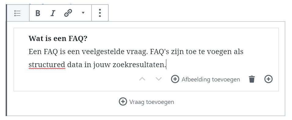 FAQ in WordPress Gutenberg
