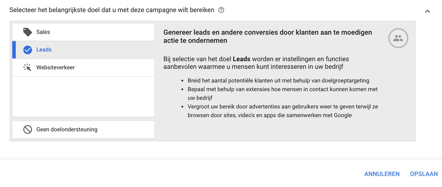 Google Ads campagne instellen