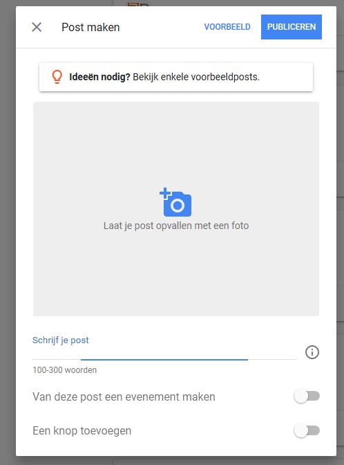 Een Google Post plaatsen in je Google Maps Vermelding
