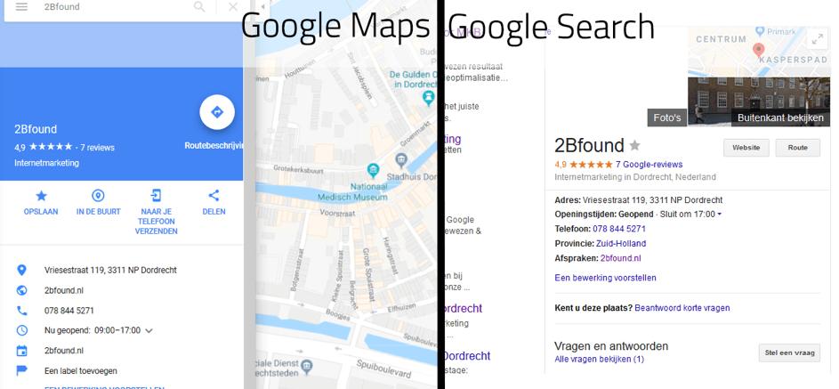 Bedrijfsprofiel van 2Bfound in Google