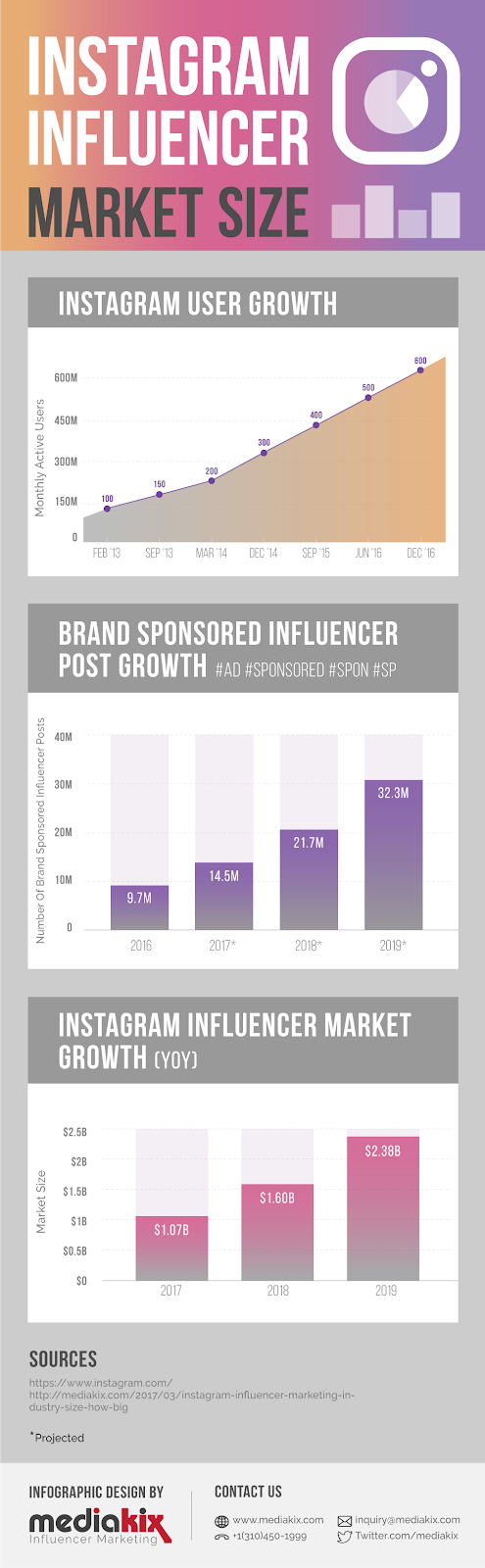 Instagram influencer infographic