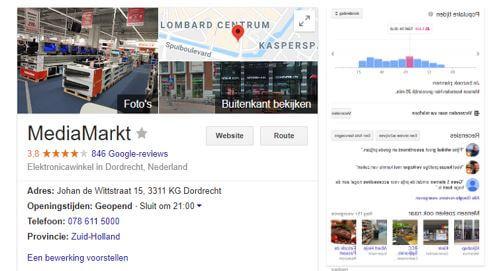 Google Lokale Kenniskaart