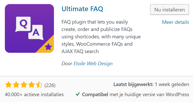 Plugin ultimate FAQ