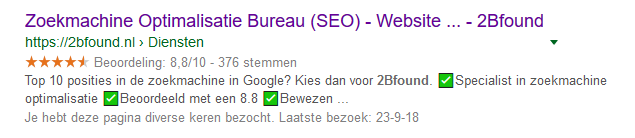 zoekresultaten bij 2Bfound online marketing bureau in Dordrecht