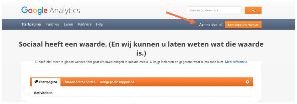 Google analytics omgeving