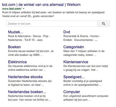 Sitelinks Search Box Google