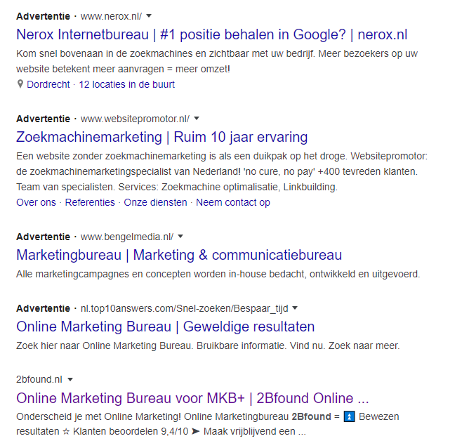 adverteren op merknaam concurrent in Google Ads