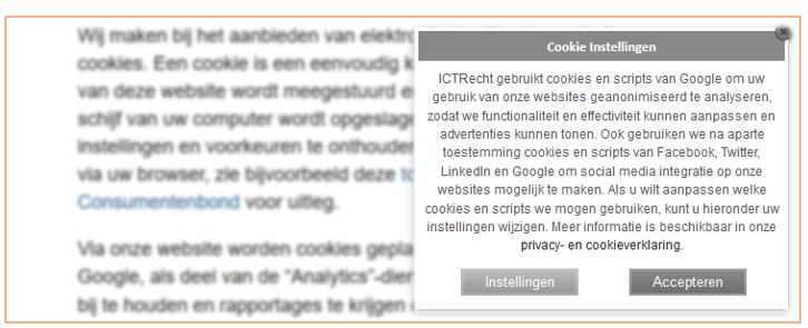 analytische cookies op een website