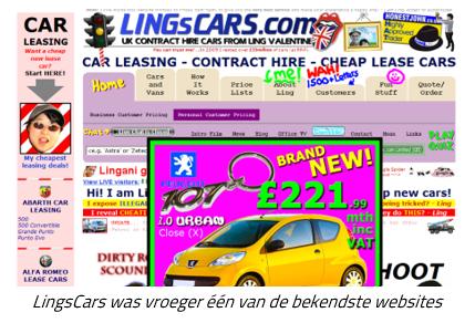 Een voorbeeld van een slecht geoptimaliseerde website