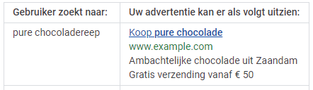 google ads voorbeeld dynamic keyword insertion