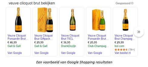 google shopping afbeelding van champagne
