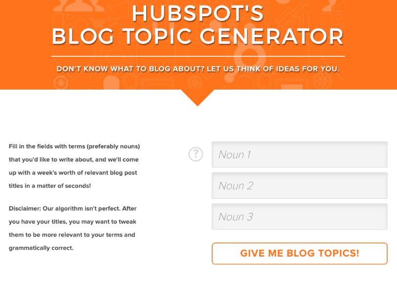blog titel generator van hubspot
