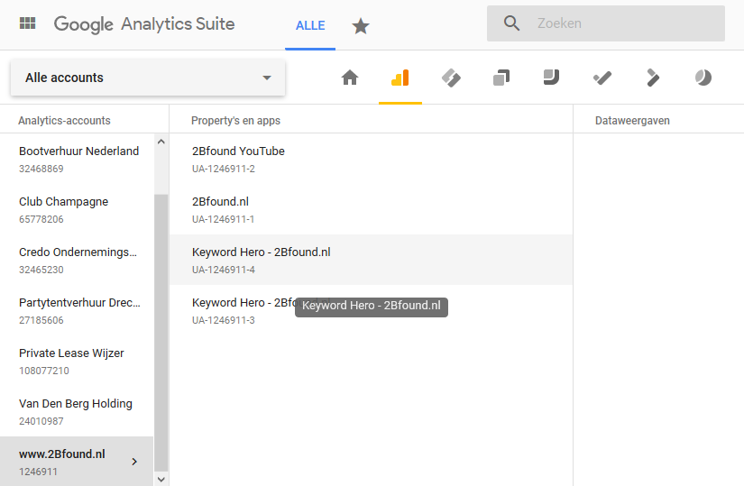keyword hero in google analytics