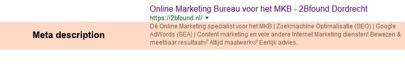 een langere meta description in Google