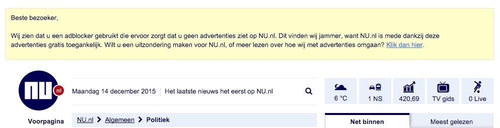 Voorbeeld nu.nl