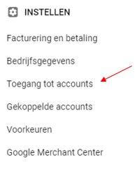 toegang verlenen google ads