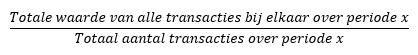 de berekening van gemiddelde transactiewaarde